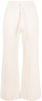 Pinko Cropped Crochet Trousers