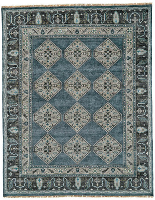Alden Weave & Wander Rug, Dark Blue/Gray, 2'x3'