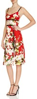 ABS by Allen Schwartz Mesh Inset Floral Print Dress