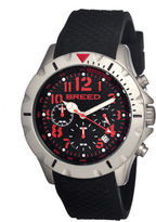 Breed Black & Red Sergeant Chronograph Watch