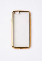 Missguided Gold Metallic Edge iPhone 6 Case