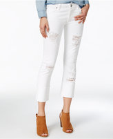 True Religion Liv Bright White Wash Cuffed Jeans