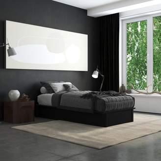 DHP Maven Upholstered Platform Bed, King Size Frame, Gray Linen