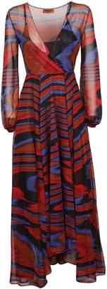 Missoni Colour Block Flared Maxi Dress
