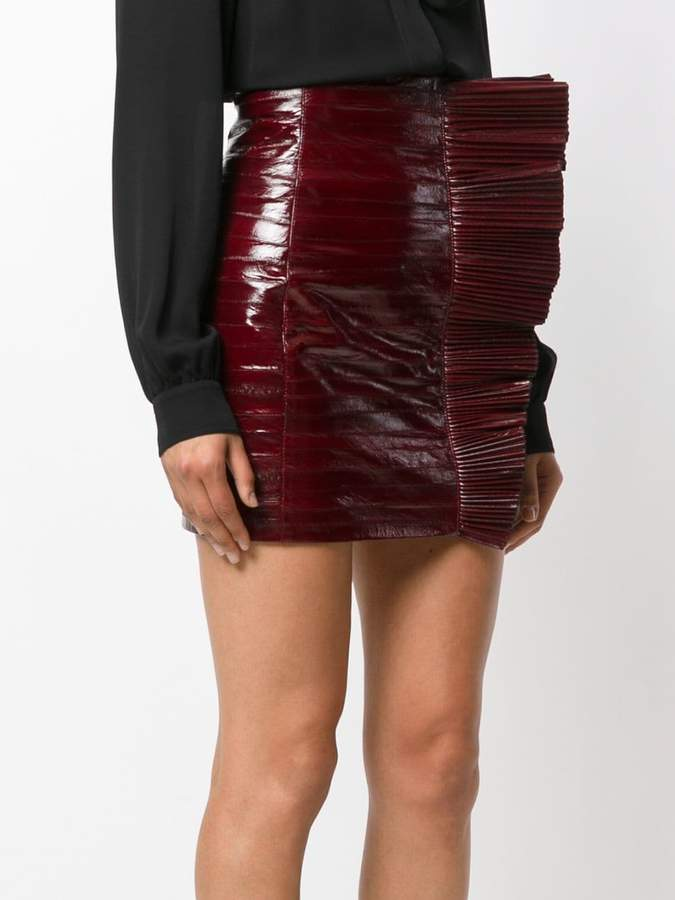 Saint Laurent fitted biker skirt