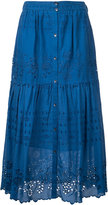 Sea embroidered pleated skirt - women - Cotton - 8