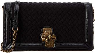 Bottega Veneta Intrecciato Leather Knit Knot Clutch