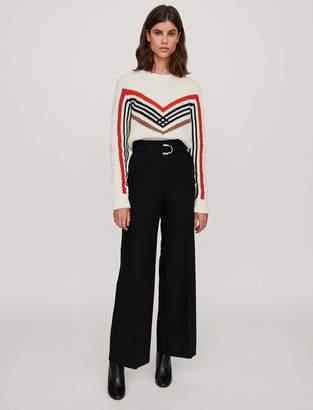 Maje Wide leg pants with belt