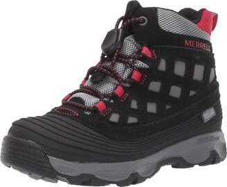 Merrell Thermoshiver 2.0 Waterproof Boot Big Kid 3 Black/Red