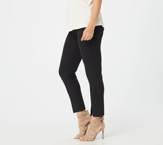 Isaac Mizrahi Live! Regular 24/7 Stretch Ankle Pants w/ Front Slit
