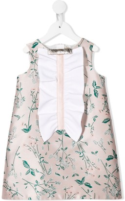 Hucklebones London Ruffle Shift floral-print dress