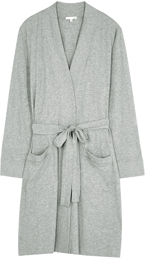 Skin Odiana Grey Pima Cotton Robe