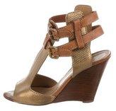 Chloé Metallic Wedge Sandals