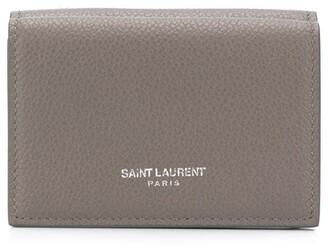 Saint Laurent Tiny Grained-Leather Wallet