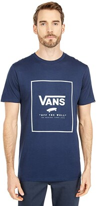 Vans Print Box Tee (Dress Blues/Bay) Men's T Shirt