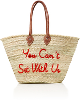 Poolside La Plage Embroidered Straw Tote