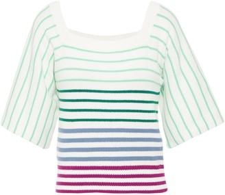 Kate Spade Striped Cotton-blend Top