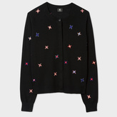 Paul Smith Women's Black Wool Cardigan With Embroidered 'Stars'
