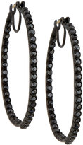 Armenta Midnight Black Diamond Hoop Earrings