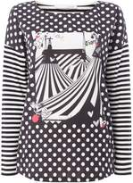 Oui Stripe circus print top