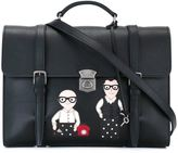 Dolce & Gabbana Designers patch messenger bag