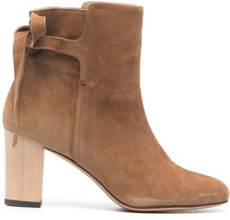 Tila March Heeled Suede Ankle Boots