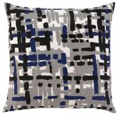 Painted Tweed Pillow - Cobalt