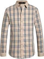 SSLR Men's Classic Checkered Long Sleeve Shirt