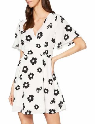 Yumi Women's Daisy Flower Bell Sleeve Skater Dress Casual