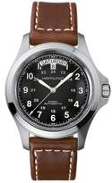 Hamilton Khaki King Automatic Leather Strap Watch, 40Mm