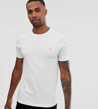 Farah Dennis slim fit logo t-shirt in white