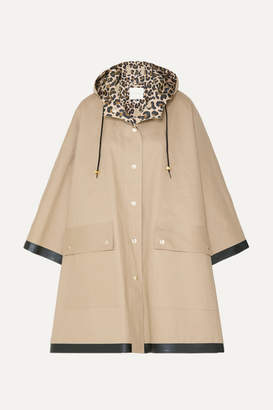 MACKINTOSH Keith Hooded Bonded Cotton Cape - Beige