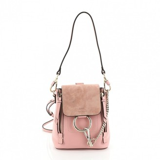 Chloé Faye Pink Suede Backpacks