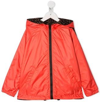 Fendi Kids Reversible Hooded Jacket
