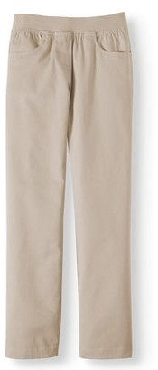 Wonder Nation Girls School Uniform Stretch Twill Pull-On Pants, Sizes 4-16 & Plus