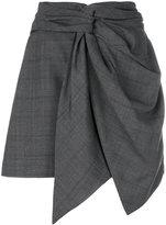 Etoile Isabel Marant Nima knot detail checked skirt - women - Virgin Wool - 38