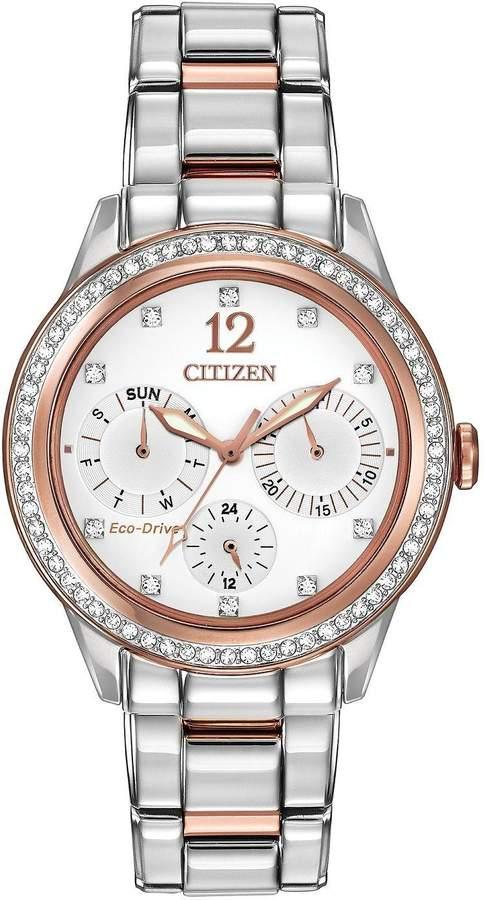 Citizen Eco-Drive Silhouette Crystal Swarovski Crystal-Set Bracelet Ladies Watch