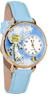 Whimsical Watches Women's G-0710005 Angel Baby Blue Leather Watch