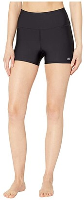 Alo High-Waisted Airlift Shorts (Black) Women's Shorts