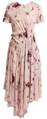 Preen Line Lois Wildflower-print Ruched Dress - Womens - Pink