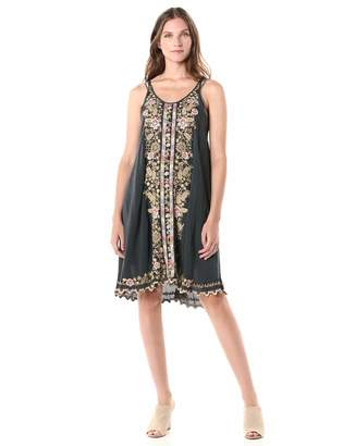 Johnny Was Women's Embroidered Slip Dress