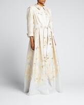 Thumbnail for your product : Rickie Freeman For Teri Jon Metallic Brocade Shirtdress Gown
