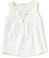 Copper Key Big Girls 7-16 Embroidered Lace Woven Tank