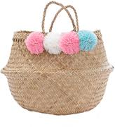 Marie Chantal Marie-Chantal Pom Pom Woven Bag