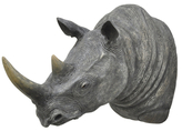 Three Hands Rhino Wall Figure