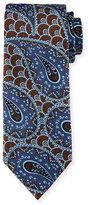 Ermenegildo Zegna Retro Paisley Woven Silk Tie, Blue
