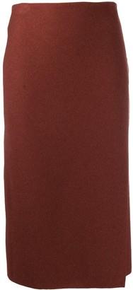 Canessa Wrap-Effect Skirt