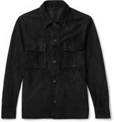 Valstar - Slim-fit Suede Shirt Jacket - Black