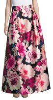 Eliza J Floral-Print A-Line Skirt