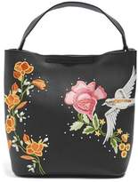 Topshop Embellished Faux Leather Tote Bag
